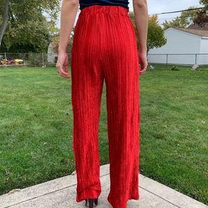 NWOT Red Velvet Pants